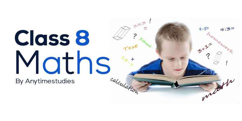 Anytimestudies Class 8 Mathematics Animated Video Lectures in English & Hindi
