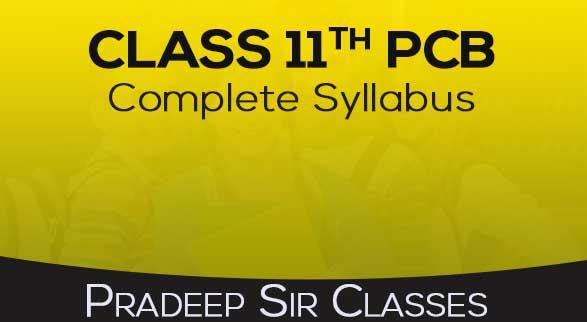 Class 11th PCB